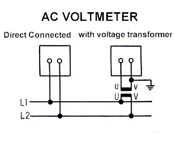 ammeter voltmeter transducer meters  wire diagram