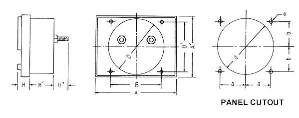 ac  dc ammeter voltmeter  sm series